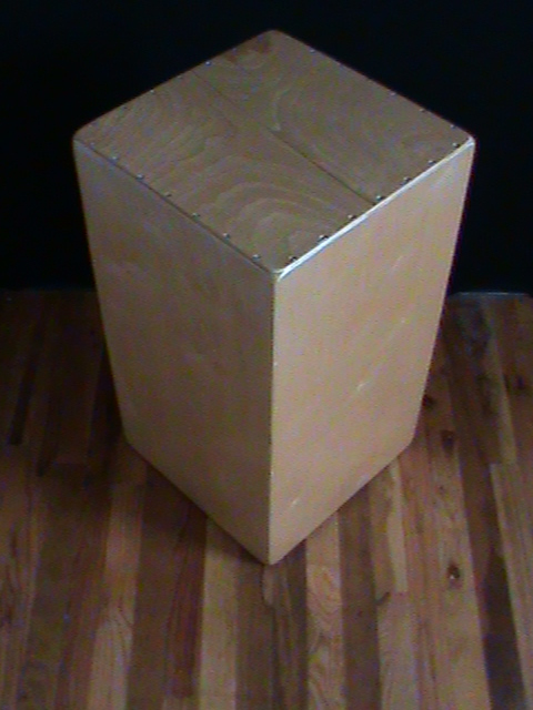 The Decajon, an upright Cajon with Ten Tones