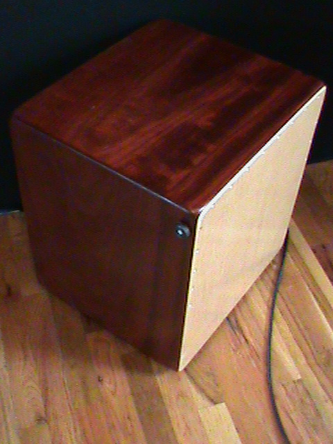 Solid Padouk Contrabass Snare Cajon with Pickups